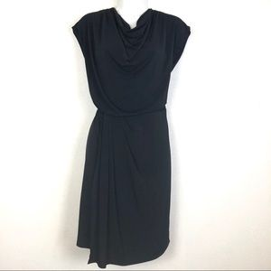 Vince Camuto Cowl Neck Dress Cap Sleeves Black